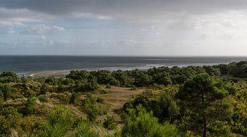Uitzicht over de Waddenzee vanaf het Vuurboetsduin van Ingrid Aanen