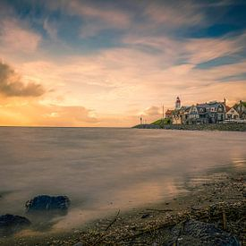 sunset Urk van Michel Jansen