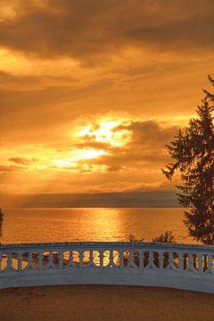 Sonnenuntergang über dem Genfer See