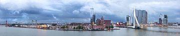 Panorama Maastoren/Erasmusbrug van Prachtig Rotterdam