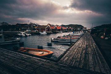 Kleine vissershaven in Zweden van Jan Wehnert
