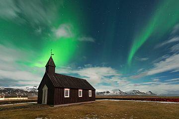 Island Black Church Nordlichter von Stefan Schäfer