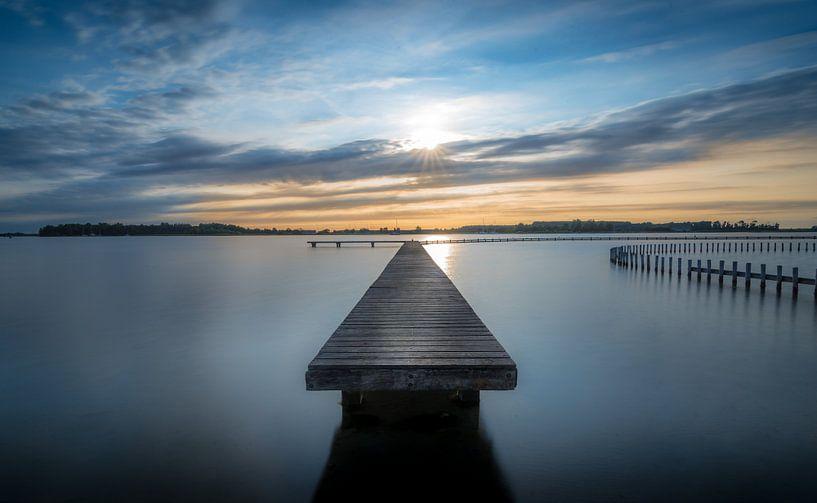 zonsondergang bij de steiger van Rob Bout