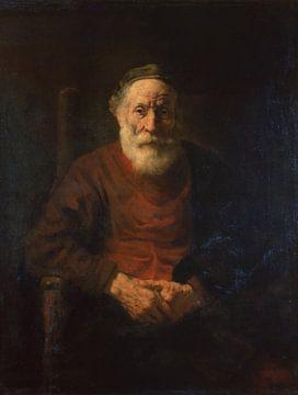 Das Kunstwerk Bildnis eines alten Mannes in rotem Gewand - Rembrandt