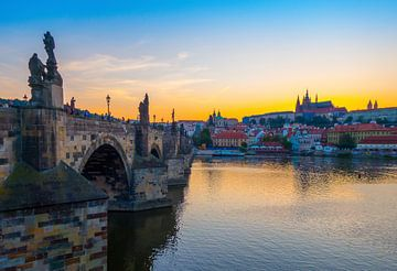 Sunset - Charlesbridge, Prague von Jelmer van Koert