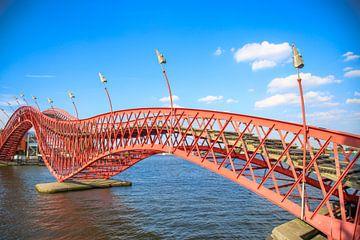 Pytonbrug in Amsterdam van Omri Raviv