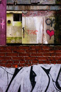 abstract graffiti composition no. 2 van Robin Veenink