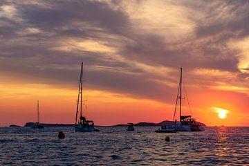 Sonnenuntergang Cafe del Mar Ibiza von Richard van der Woude