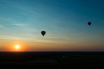 Ballonfahrt Sonnenuntergang von Elly Damen