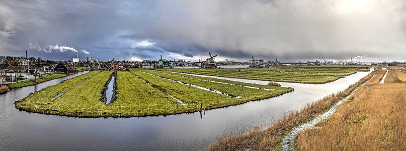Panorama Zaanse Schans van Frans Blok