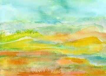 Landschaft minimal von Claudia Gründler