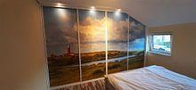 Klantfoto: Vuurtoren Eielerland vanaf De Noordkaap - Texel van Texel360Fotografie Richard Heerschap, op behang