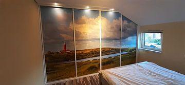 Klantfoto: Vuurtoren Eielerland vanaf De Noordkaap - Texel van Texel360Fotografie Richard Heerschap