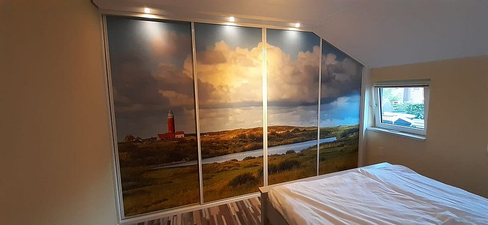 Kundenfoto: Vuurtoren Eielerland vanaf De Noordkaap - Texel von Texel360Fotografie Richard Heerschap, auf fototapete