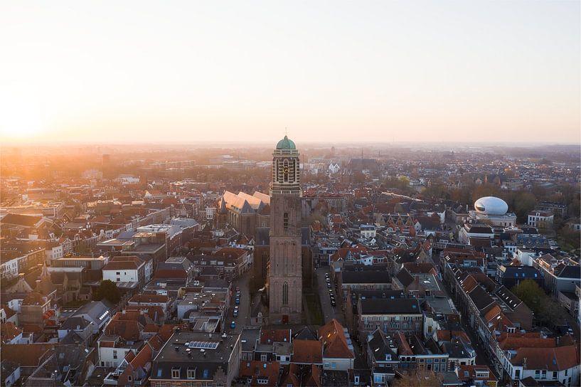 Zwolle van boven, Peperbus Zwolle centrum van Thomas Bartelds
