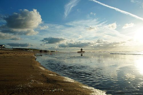 strand , zon en zee van