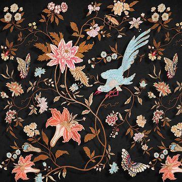 The Vintaged Wallpaper – Black von Marja van den Hurk