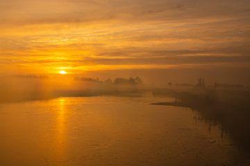 nevelige zonsopkomst van klaas zijlstra