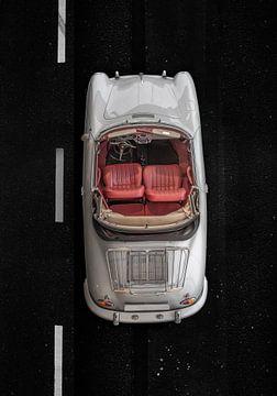 Porsche 356 Speedster oldtimer on the road van