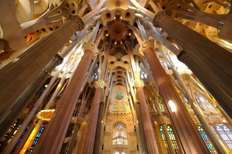 De Sagrada Familia in Barcelona (5) van Merijn van der Vliet