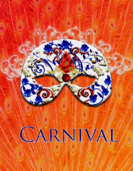 Maske Carneval van Rosi Lorz