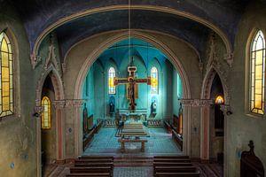 Blaue Kirche verlassene Kirche