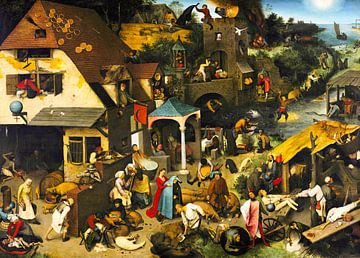 Niederländische Sprichwörter von Pieter Bruegel