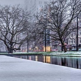Winter bij de Westersingel van Frans Blok