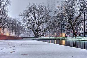 Winter bij de Westersingel van