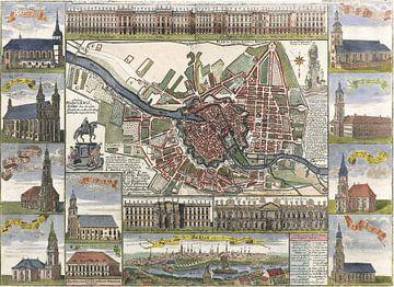 Berlin, Karte der königlichen Residenz 1739 von Atelier Liesjes