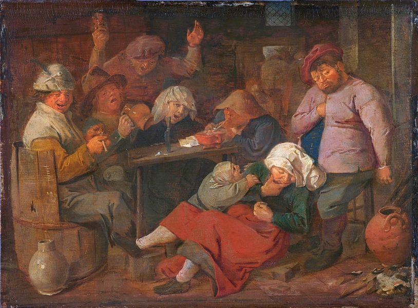Bauerntrinkfest, Adriaen Brouwer von Meesterlijcke Meesters