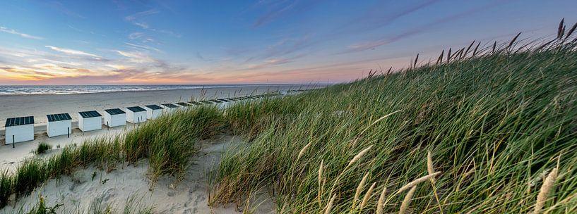Paal 28 Texel zonsondegang van Texel360Fotografie Richard Heerschap