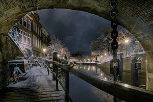 De Nacht van Leiden in de sneeuw. van