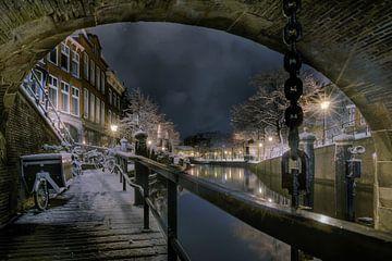 De Nacht van Leiden in de sneeuw. von Machiel Koolhaas