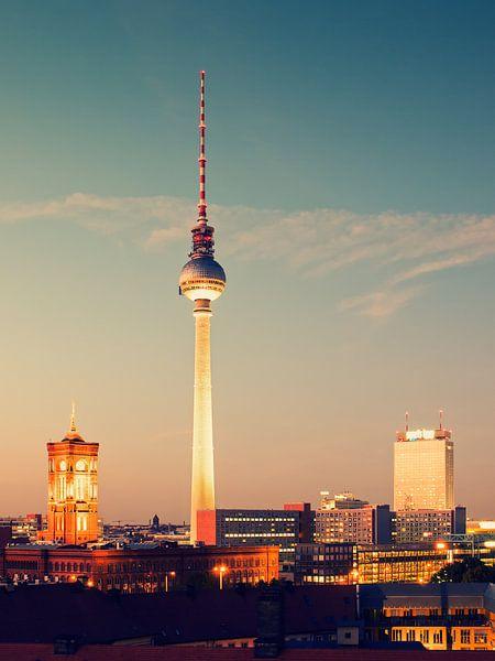 Berlin - Skyline / Television Tower van Alexander Voss