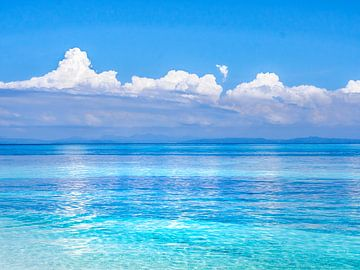Filipijnen - Cebu Island - Vijftig tinten blauw in de buurt van Malapascua Island van Rik Pijnenburg
