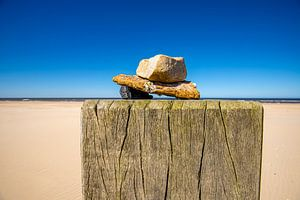 Nature morte sur la plage sur Jaap Spaans