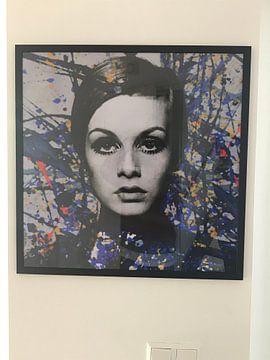Kundenfoto: Miss Twiggy - Extreme Splash - Pollock Style  von Felix von Altersheim