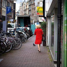 Lady in red van Mirjam van der Linden