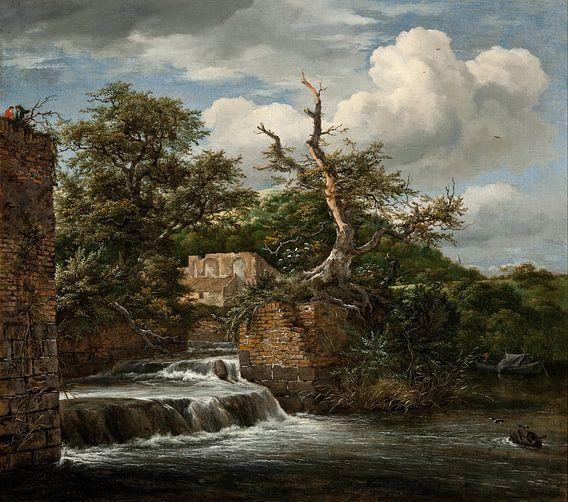 Jacob van Ruisdael - Landschap met een molen en ruïnes