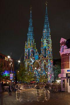 Sint Catharinakerk Eindhoven GLOW 2017 sur Jan Sluijter