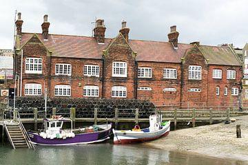 Scarborough Harbour I Fischerboote I Vintage von Floris Trapman
