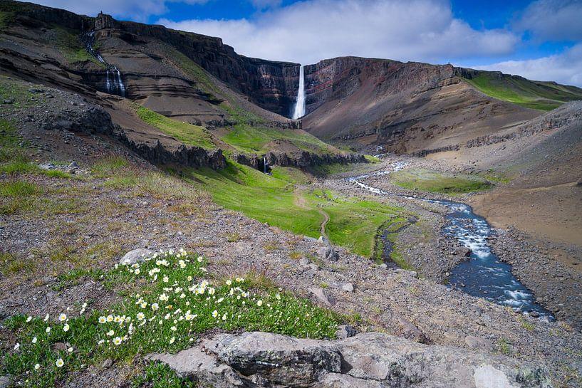 Hengifoss, IJsland van Joep de Groot