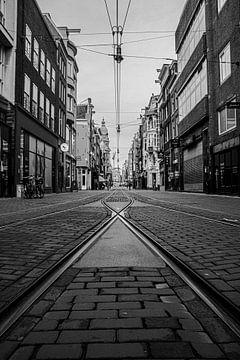 Leidsestraat (2 schwarz und weiß) von By Odessa DC
