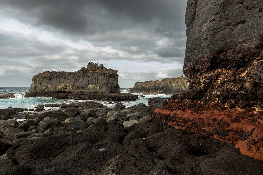De ruige kust van La Palma