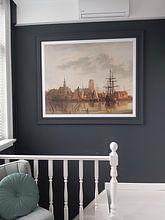 Klantfoto: Gezicht op Dordrecht bij zonsondergang, Aelbert Cuyp, op fotoprint