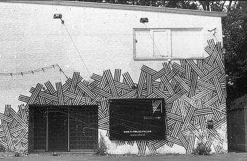 Gekke grafiti muur ergens in amsterdam van Melvin Meijer