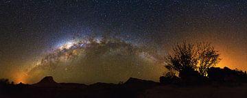 Melkweg panorama Madagaskar von Dennis van de Water