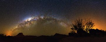 Melkweg panorama Madagaskar van Dennis van de Water
