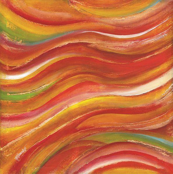 zonsondergang golven van Bojan Eftimov
